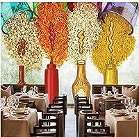 Bosakp カスタム3D壁紙壁画ノスタルジックな調味料ソーススパイススパイスキッチンレストランの背景壁画壁紙 240X155Cm