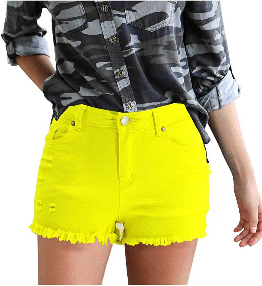 Spring and summer new broken cave Portland Mall women's hot High material shorts pant Supo