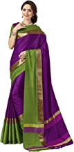 Art Décor Indian Women's Cotton Silk Festive Saree with Blouse Piece(Pradip_TD_Green_Green & Pink_Free Size)