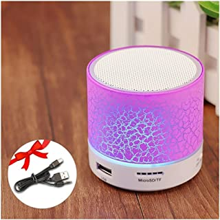 YZT GETIHU Wireless Portable Bluetooth Speaker Mini LED Music Audio TF USB FM Stereo Sound Speaker for Phone Xiaomi Computer Column (Color : Purple)