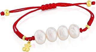 TOUS 熊淡水养殖珍珠和红色绳手链