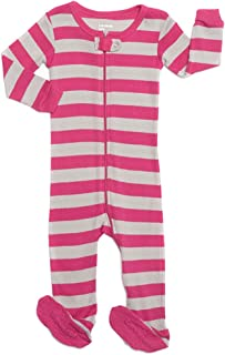90e99c30ec9 Leveret Striped Baby Girls Footed Pajamas Sleeper 100% Cotton Kids   Toddler  Pjs (0