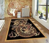 "Oriental Asian Japanese Dragon Area Rug Carpet (5' 3"" X 7' 5"")"