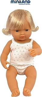 Miniland Baby Doll European Girl (38 cm, 15