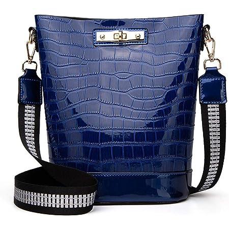 BUKESIYI Damen Tasche Umhängetasche Handtasche Frauen Klein Schultertasche Weekender Lack PU Leder CCDE77106