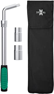 """Teleskophjulmutternyckel, sats 4 delar Med 17/19 mm och 21/23 mm hylsor och hjulmutternyckel med utdragbart skaft I 0,5""""-f..."""