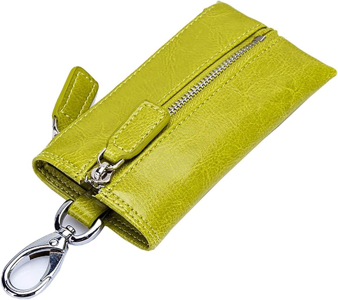 HttKse Coin Purses Wallets Mini Size Simple Coin Purse Leather Change Pouch Ladies Clutch Purses Key Bag Money Clips Coin Pouches (Color : Yellow, Size : 12.3x0.5x6cm)