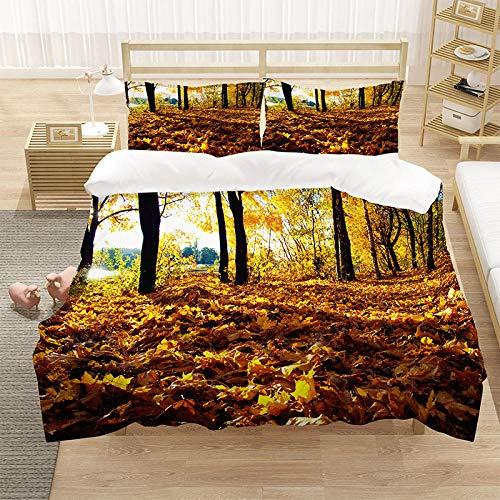 Bedclothes-Blanket Funda nórdica 3D 220x240,SANDET Ropa de Cama Digital Digital deciduas de Tres Piezas-2_180 * 210cm (3 Piezas)