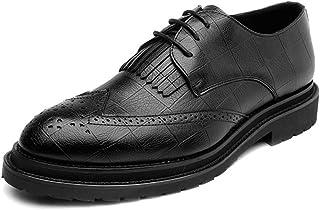 HCP-MX Zapatos de Cuero de la PU de los Hombres Zapatos de Cuero con Cordones de la decoración de la Borla al por Mayor Transpirable Formal Negocios Forrados Oxfords.