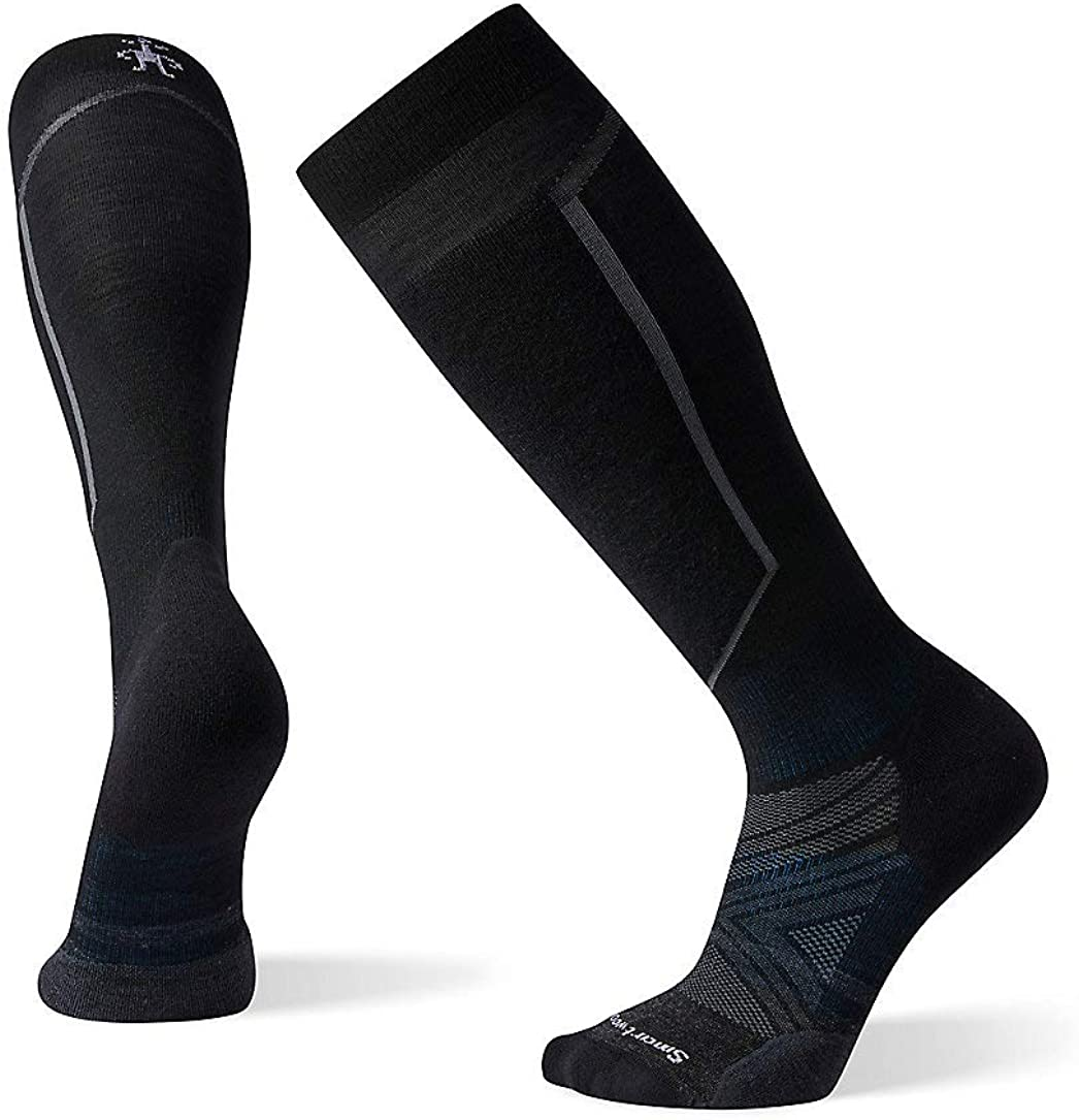Smartwool Men's PhD Ski Light Elite Over-the-Calf Merino Wool Socks, Black, Extra Large