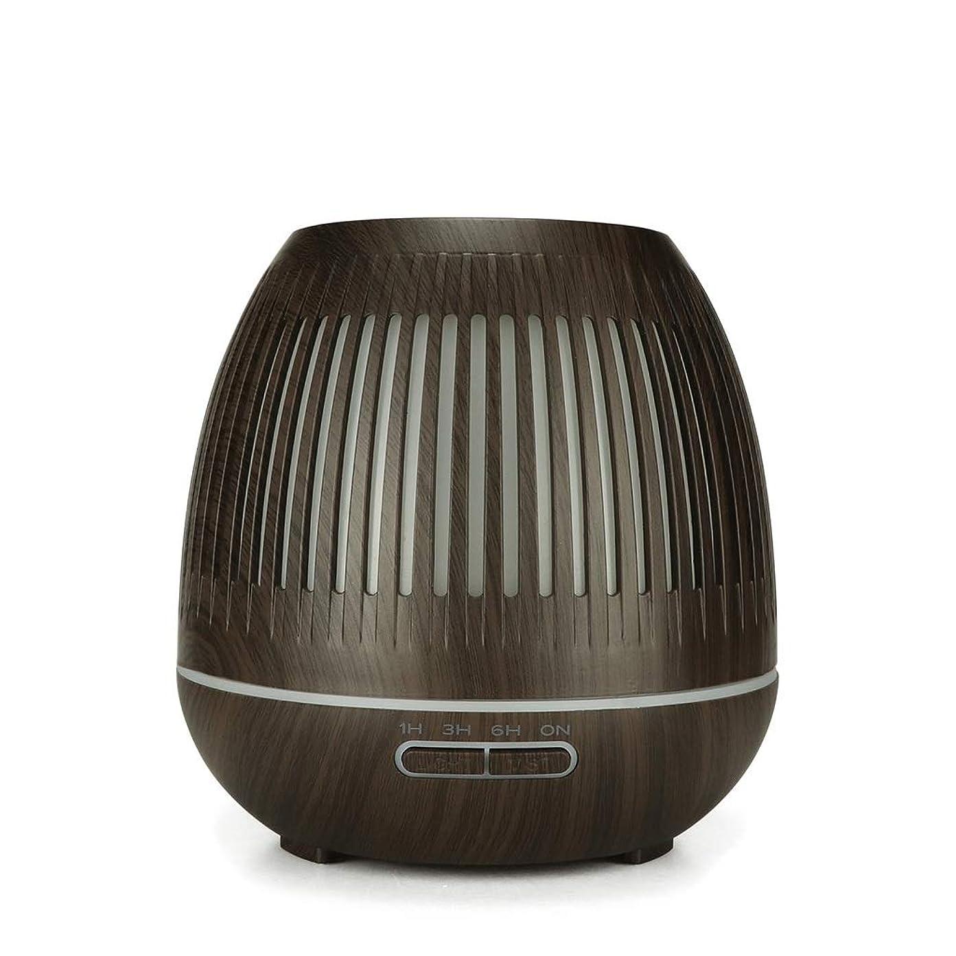 抽象結婚した米国400ミリリットル超音波クールミスト加湿器付きカラーledライト用ホームヨガオフィススパ寝室ベビールーム - ウッドグレインディフューザー (Color : Dark wood grain)