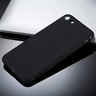 for iPhone 8 &7 Litchi Texture TPU Protective Soft Back Case (Color : Black)