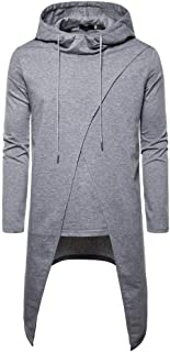 TTOOHHH Men's Fashion Hipster Solid Color Causal Long Sleeve Hoodies Sweatshirt Tops Cloak Pullovers
