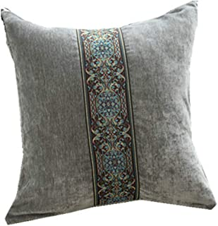 Fundas de cojín de terciopelo de lujo de Hunterace Fundas de cojines de bordados cuadrados decorativos Funda de almohada 18