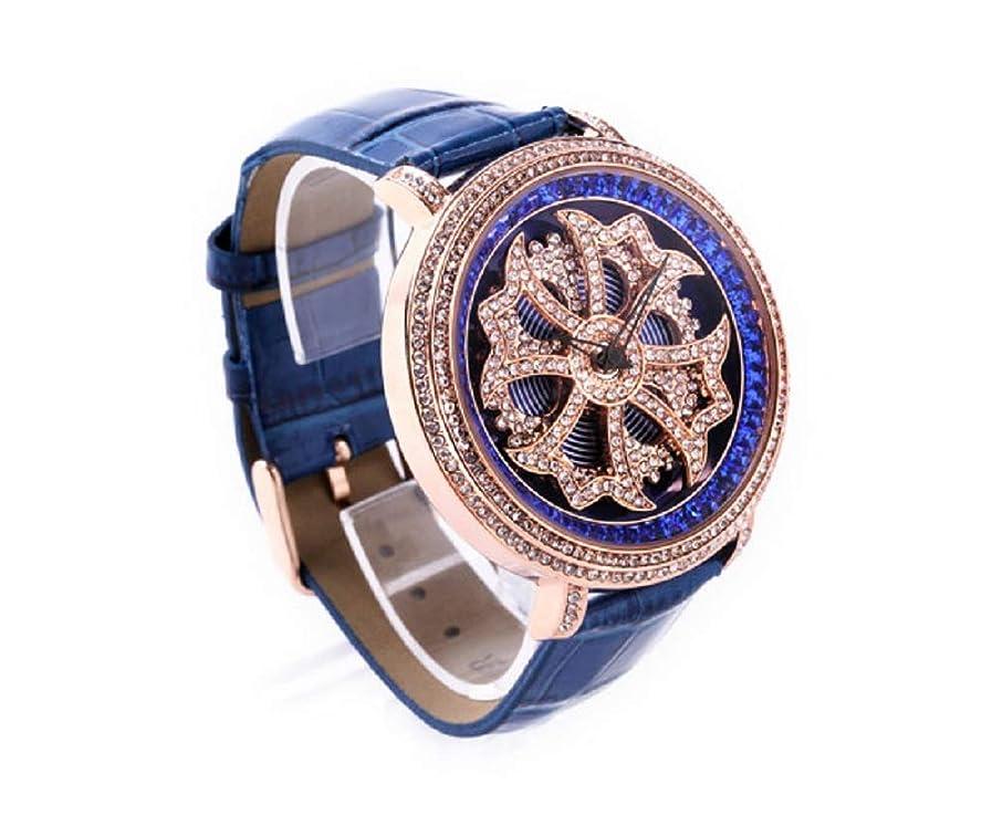 報酬ロビー楽観的un bel tocco (ウンベルトッコ)グルグル時計 文字盤が回る くるくる時計 ビッグフェイスデザイン AROUND-WATCH (ブルー)
