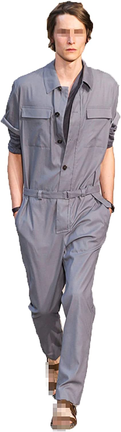 Jumpsuit Men Rompers 2021new shipping free shipping One Piece Milwaukee Mall Overalls Long Cotton Mens Sleeve