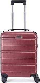 BONTOUR Bagage à Main 55x40x20cm, Valise de Cabine avec Matériau en Polycarbonate et Serrure TSA, 4 Roues silencieuses (Bo...