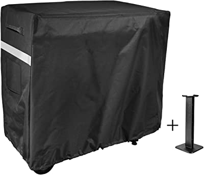 Utheer Grill Cover for Camp Chef FTG600 Flat Top Grill, 600D Weather Resistant & Waterproof BBQ Cover with Support Pole to Prevent Water Leaking