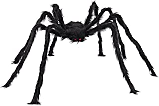 JOYIN Halloween Outdoor Decorations Hairy Spider (Black)