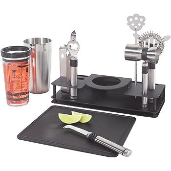 Oggi Pro 10piezas coctelera de acero inoxidable y barra de herramientas Set