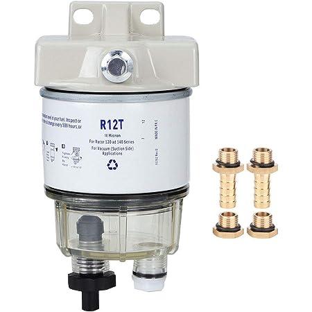 R12T Boat Marine Rotation Fuel Filter Water Separator Fits for Speedboat Qiilu Marine Filter Fuel