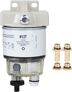 Hlyjoon Kraftstofffilter R12T Boat Marine Rotation Kraftstofffilter Wasserabscheider Mit einer Durchflussrate von 30 gph auf dem R12T Passt für Schnellboot