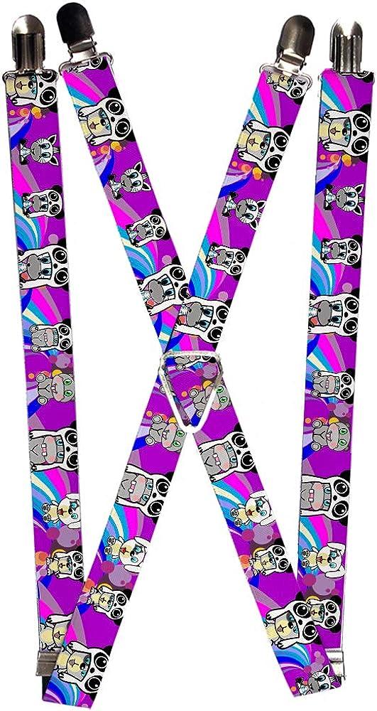 Buckle-Down Unisex-Adult's Suspender-Panda