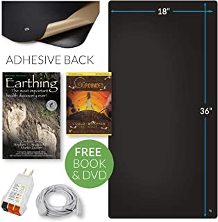 Earthing® Office Chair Mat Kit - Stay Grounded Indoors - Includes Mat, Cord, Adapter, Tester - Reduce Inflammation, Improve Sleep, Stress, and Anxiety - Earthing Book and Documentary DVD Included