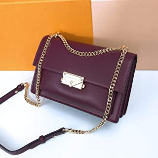 LIMING Bags Women's Leather Women's Bags Organ Bags Wild Locks Small Square Bags Shoulder Messenger Chain Bags Apricot,Col...