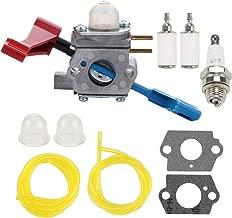 POEMQ 530071629 Carburetor Kit for Poulan FL1500 FL1500LE Gas Leaf Blower Replace Zama C1U-W12A C1U-W12B with Fuel Filter Spark Plug Primer Bulb