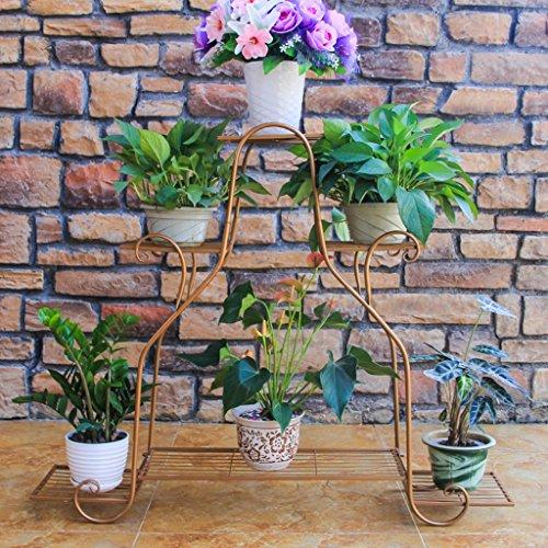 William 337 Stand de fleur en fer forgé fleur stand Multilayer intérieur et extérieur salon balcon multifonctionnel plante grand (Couleur : A)