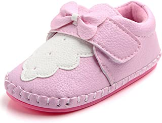 gllive Baby Girls' PU Leather Crib Shoes