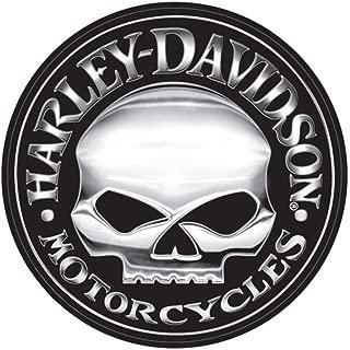 HARLEY-DAVIDSON Decal, Silver Willie G Skull Logo, X-Large 29 Inch CG4331