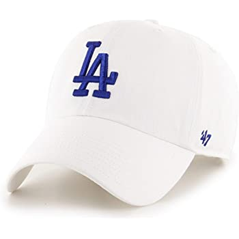 '47 Los Angeles Dodgers White Clean Up Dad Hat Adjustable Slouch Cap