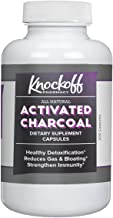 Activated Charcoal Capsules (200 Capsules, 525 mg per Serving, 3 Capsule/Serving) by Knock Off Pharmacy, Odorless & Non-To...