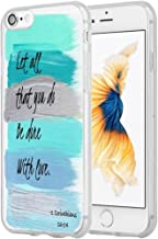 8 Case,7 Case Christian Sayings,Hungo Protective Cover Compatible with iPhone 7/8 Bible Verses Theme Let All That You Do Be Done with Love 1 Corinthians 16:14