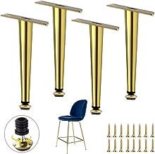 4-delige metalen meubelpoot, ijzeren tafelpoot, vervangende bankpoten, taps toelopende keukenkastpoten, salontafelpoot, vo...