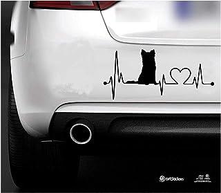 DONL9BAUER Adhesivo personalizado para perro a bordo con nombre de coche pegatinas de vinilo auto Scratch cubierta para ventana para port/átil de viaje vaso puerta parachoques equipaje