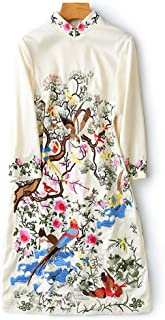 Retro Chinese Style Tang Suit Improved Chinese Dress Cheongsam Dress,Apricot,M