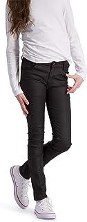 BOOF - Pantalones Vaqueros para niña, Ajustados, Color Negro