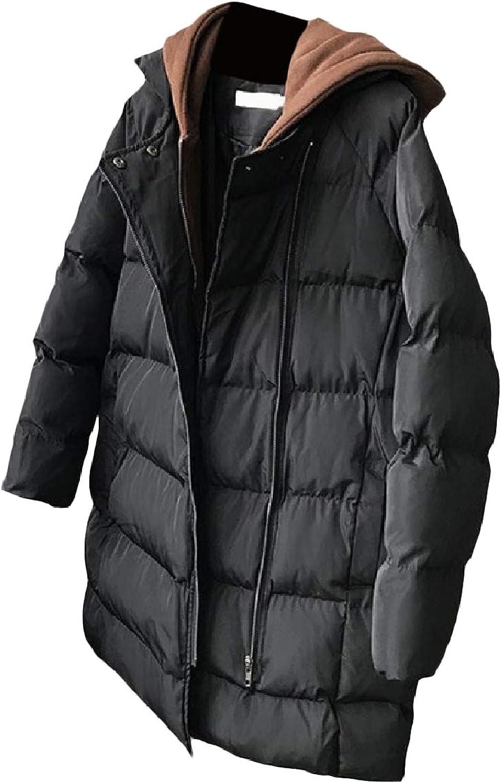 Abetteric Women Keep Warm Classic Hood Outwear MidLong Pea Coat Jacket