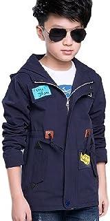 [Nana_Collection(ナナコレクション)] 秋 キッズ 子供 男の子 かっこいい フード ジッパー 上着 ジャンパー コート ネイビー 170cm