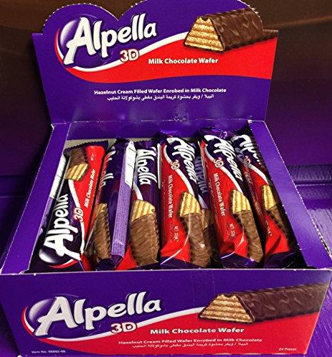 Ulker Alpella 3d milk chocolate wafer 27.09 oz. (Pack of 24)