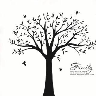 BDECOLL Familia grande como la rama en la pared Árbol Wall Decal Wall Sticker Cuarto de estar Nursery (El marco de la foto no está incluido) (Negro)