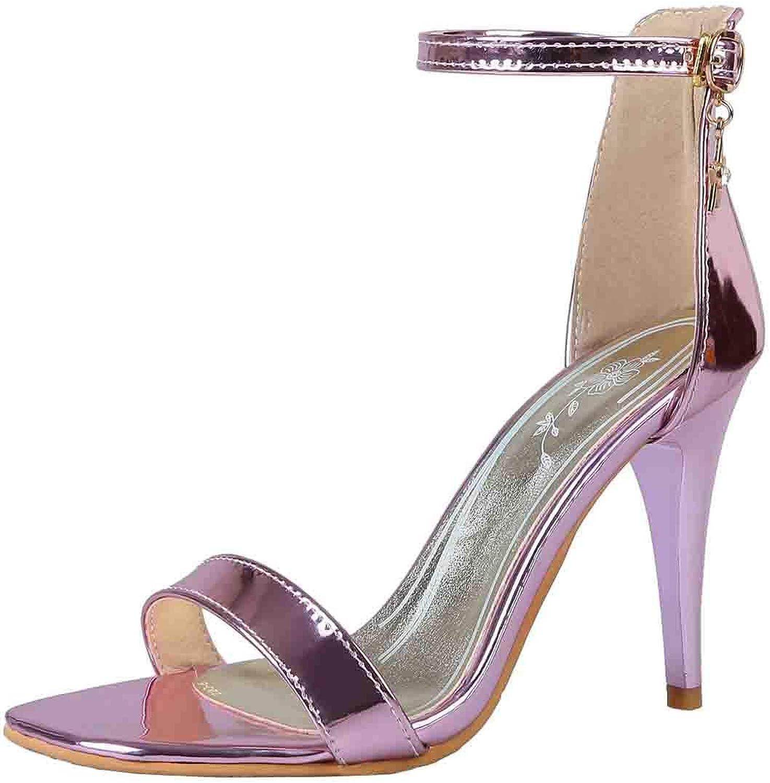 Vitalo Womens Ankle Strap Open Toe Pumps Stiletto High Heel Sandals Party Dress shoes