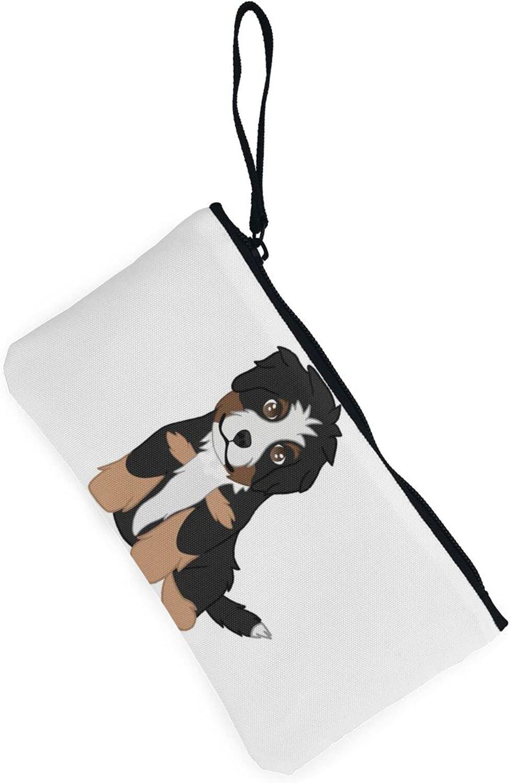 AORRUAM Cute dog Canvas Coin Purse,Canvas Zipper Pencil Cases,Canvas Change Purse Pouch Mini Wallet Coin Bag
