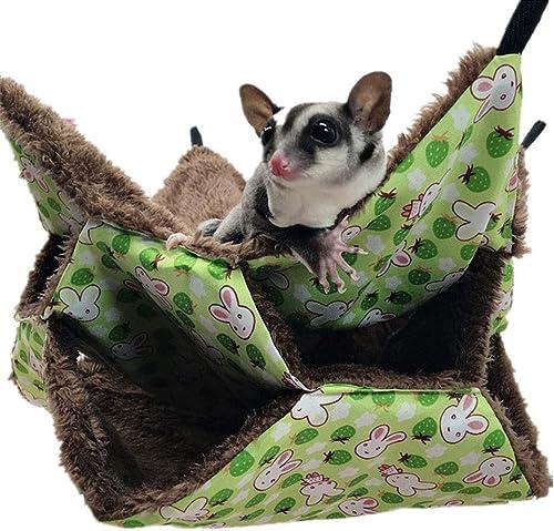 Oncpcare Hamac de cage pour petit animal domestique, hamac triple lit pour rat, cochon d'Inde, accessoires de literie...