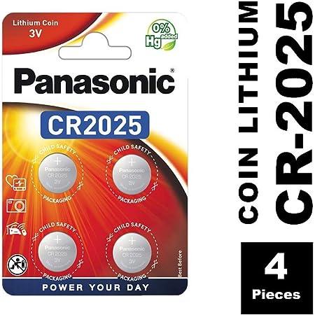 Panasonic Cr2025 Lithium Knopfzelle 3v 4er Pack Elektronik