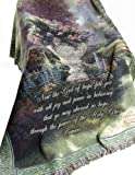 Manual Thomas Kinkade 50 x 60-Inch Tapestry Throw with Verse, The Garden of Hope