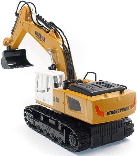 KUDYN Le Camion d'excavatrice de RC Joue des Voitures à télécomhommede de véhicule d'ingénierie de Construction avec la lumière de rougeation de 350 degrés